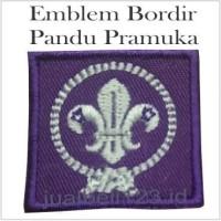 Emblem Bordir Pandu Pramuka