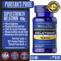 Puritans Pride Melatonin Super Strength 10mg - 60 Caps - Original USA