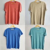 ORIGINAL American Eagle Kaos Tee Shirt Kaos Polos Pria Pocket Kantong