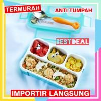 Lunch Box Mini Yooyee 4 sekat Kotak Makan / bekal bento Anti Bocor