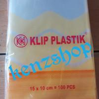 PLASTIK KLIP 10x15 ( ISI 100PC ) / PLASTIK OBAT