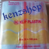 PLASTIK KLIP 20x30 ( ISI 100PC ) / PLASTIK OBAT
