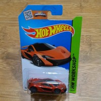 Diecast Hot Wheels Mclaren P1 Metallic Orange 2014