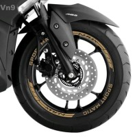 Sticker Velg Yamaha Nmax warna Gold bahan reflectiv