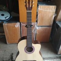 gitar classic nilon yamaha elektrik bonus tass kabel