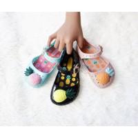 Sepatu Anak Perempuan / Flat Shoes Anak Jelly Shoes Pineapple
