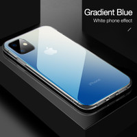 CAFELE Case iPhone 11 Pro Max iPhone 11 Pro - Gradient Light Glass - Biru, iPhone 11