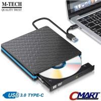 M-TECH DVD External USB Type C DVDRW eksternal Laptop - DVDRW-USB3TC