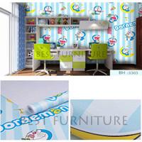 Best Wallpaper Sticker Dinding Premium Quality 45cm x 10m Doraemon