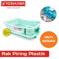 YOSHIKAWA Rak Piring Plastik EVL-RP-08-HIJAU