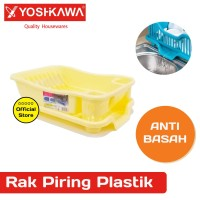 YOSHIKAWA Rak Piring Plastik EVL-RP-08-KUNING