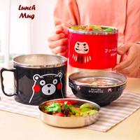 Lunch Mug - Rantang Bentuk Gelas - Hitam /Rantang