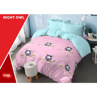 BED COVER SET KINTAKUN DLUXE KING SIZE 180 X 200 - NIGHT OWL NEW