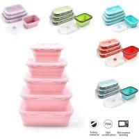 Kotak Makan Silikon 800 ML/ Lunch Box / Food Container BPA Free