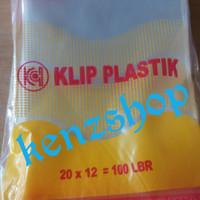 PLASTIK KLIP 12x20 ( ISI 100PC ) / PLASTIK OBAT