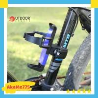 Holder Tempat Botol Minum Sepeda + Adaptor Clamp Bottlecage