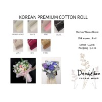 KOREAN PREMIUM COTTON ROLL (1 ROLL)/ FLOWER WRAP/ PEMBUNGKUS BUNGA
