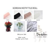 KOREAN MOTIF TILE ROLL (1 ROLL)/ FLOWER WRAP/ PEMBUNGKUS BUNGA