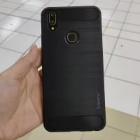Casing Softcase Ipaky Carbon Vivo V9 Case - Hitam