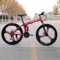 Promo 27speed 24 26 inch folding mountain bike 3/6/10 knife wheel