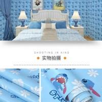 Wallpaper dinding MURAH MEDAN motif stitch 45cmx10m