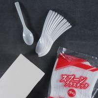 Sendok makan plastik DKY 40 Pcs Putih Susu