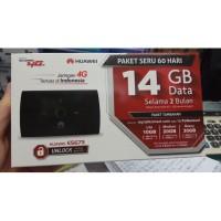 Modem MiFi WiFi Router 4G UNLOCK Huawei E5673 Free Telkomsel 14GB