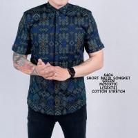 Kemeja Pendek Batik Pria Batik Songket Hijau Tosca Slimfit Casual