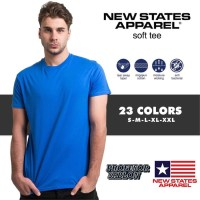 Kaos polos XXXL 3XL merk NSA New states apparel soft tee 3600