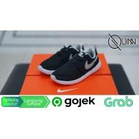Sepatu Nike Roshe One Kids Black Silver Slip On - 100% Original