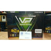 GAMEMAX PSU VP500 RGB Modular 500 Watt 80+ Effeciency 80% 12cm Fan RGB