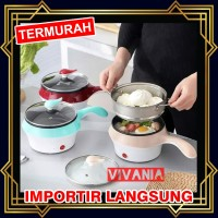 Panci Listrik keramik 2 layer Multifunctional electric fry pan mini