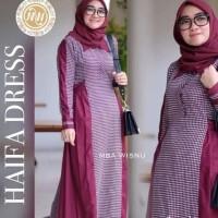 Haifa Dress G-gamis kotak kotak murah-dress wanita busui