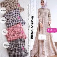Husna Maxi G-gamis katun murah-dress busui motif kotak