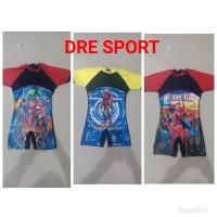Baju renang DIVING gambar anak SD usia 6-9 tahun