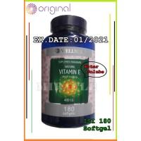 Wellness Natural Vitamin E / Vit.E 400 I.U Isi 180 Softgel