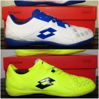 Sepatu Futsal Lotto Squadra IN original white dan Yellow BNIB