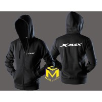 JAKET HOODIE ZIPPER XMAX CLUB MOTOR - MILK CLOTHING