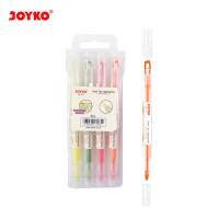 Dual Tip Highlighter Penanda Berwarna Joyko HL-53 1 Set 4 Pcs 4 Warna