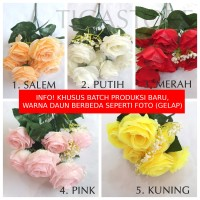 Bunga Rose Belanda Holland Jepang K7 Artificial Impor