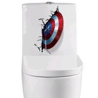 Stiker Dinding / Stiker Kaca / Wall Sticker (Perisai Captain America)