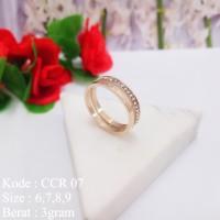 Cincin Wanita Rose Gold Cartier & Permata Missi Fashion Jewelry