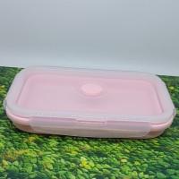 Kotak bekal silikon pink