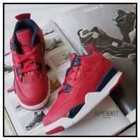 AIR JORDAN 4 Retro FIBA TD Toddler Kids Sneaker Original sepatu anak