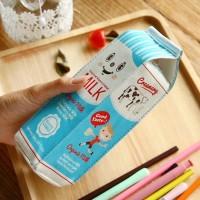 Kotak Pensil Bentuk Kotak Susu milk tempat alat tulis tempat pensil a