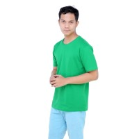 Kaos Polos KALOSTEE Premium Basic 28s 100% Cotton Irish Green XS - XL - XS