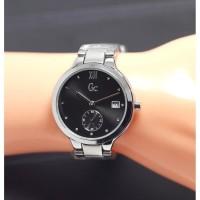 Jam Tangan Wanita Guess Chrono Detik SK7400SN Rantai Silver Black