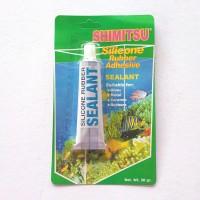 LEM KACA SILIKON 30gr silicone rubber sealant aquarium