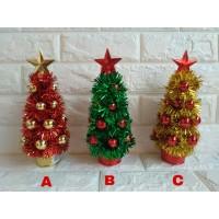 Pohon Natal Mini - Pohon Hiasan Natal - Ornamen Natal
