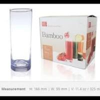 gelas kaca citinova bamboo set (6 PCS)